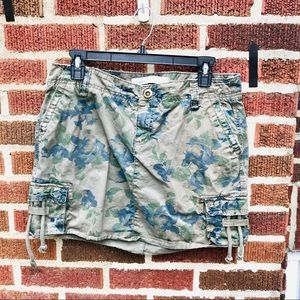Old Navy Floral Camo Distressed Mini Skirt